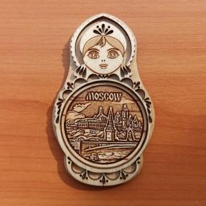 """Магнит - матрешка """"Москва""""     Артикул: 00106"""