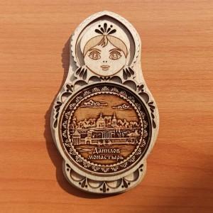 "Магнит - матрешка ""Данилов Монастырь"" Артикул: 00106-1"