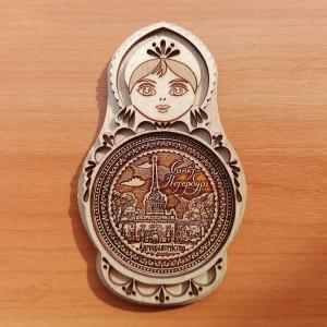 """Магнит - матрешка """"Адмиралтейство""""   Артикул: 00106-4"""