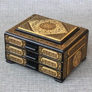 Шкатулка деревянная комод прорезной (2 вид) Артикул 05001-001  размеры 170*130*110