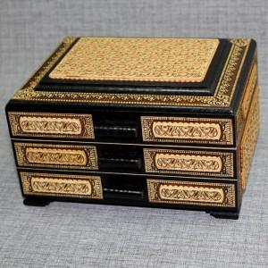 Шкатулка деревянная комод прорезной Артикул 05001  180x150x110