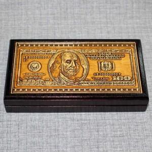 "Шкатулка под купюры ""Доллар"" Артикул 01445-61  175х95х25 Шкатулка выверена под размер банкнот"