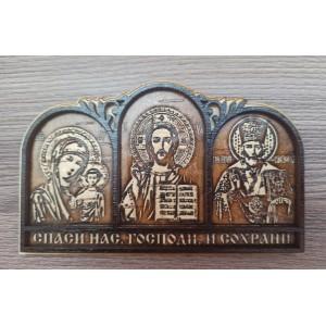 Триптих Для Водителя (3 Иконы) На Скотче   Артикул: 00115
