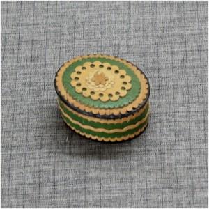 Шкатулка из бересты накладная зеленая Артикул 60400-03  65*55*35