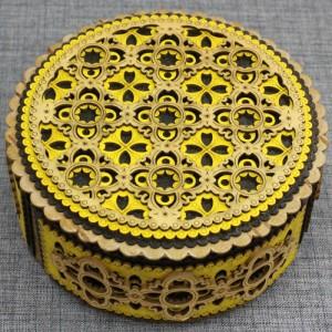 Шкатулка из бересты круг Артикул 22001  130*50