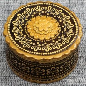 Шкатулка из бересты прок круг Артикул 50300-1